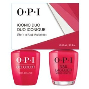 OPI Iconic Duo - GelColor + Nail Lacquer - SRJ61 (N56) - She's a Bad Muffaletta! 0.5 oz. Each (SRJ61 - N56)