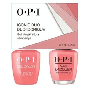 OPI Iconic Duo - GelColor + Nail Lacquer - SRJ62 (N57) - Got Myself Into a Jam-balaya 0.5 oz. Each (SRJ62 - N57)