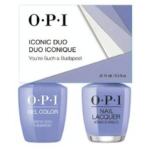 OPI Iconic Duo - GelColor + Nail Lacquer - SRJ63 (E74) - You're Such a Budapest 0.5 oz. Each (SRJ63 - E74)