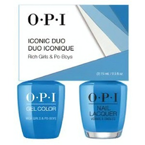 OPI Iconic Duo - GelColor + Nail Lacquer - SRJ64 (N61) - Rich Girls & Po Boys 0.5 oz. Each (SRJ64 - N61)
