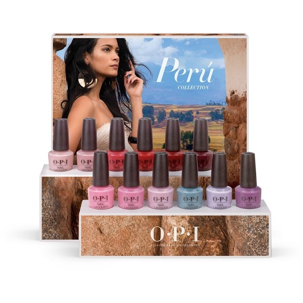 OPI Nail Lacquer - Peru Collection - #DPP33 - Edition A - 12 Piece Chipboard Display (17726)