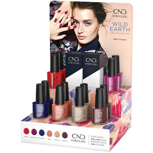 CND Vinylux - Wild Earth Collection - 14 Piece POP Display - 7 Day Air Dry Nail Polish (767193)