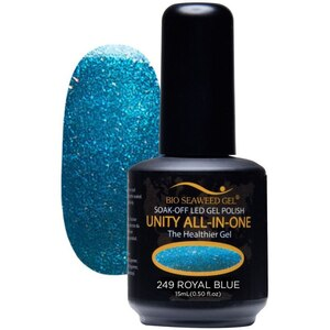 Bio Seaweed Gel - UNITY All-In-One Color Gel Polish - #249 Royal Blue 0.5 oz. (BSG UNITY #249)