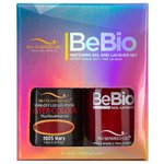 Bio Seaweed Gel - 3-STEP Color Gel Polish 0.5 oz. + Matching BeBio Nail Lacquer 0.5 oz. - #1005 Mary (BSG 3STEP #1005)