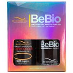 Bio Seaweed Gel - 3-STEP Color Gel Polish 0.5 oz. + Matching BeBio Nail Lacquer 0.5 oz. - #1007 Jessica (BSG 3STEP #1007)