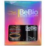 Bio Seaweed Gel - 3-STEP Color Gel Polish 0.5 oz. + Matching BeBio Nail Lacquer 0.5 oz. - #1008 Sarah (BSG 3STEP #1008)