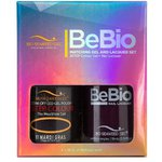 Bio Seaweed Gel - 3-STEP Color Gel Polish 0.5 oz. + Matching BeBio Nail Lacquer 0.5 oz. - #11 Mardi Gras (BSG 3STEP #11)