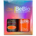 Bio Seaweed Gel - 3-STEP Color Gel Polish 0.5 oz. + Matching BeBio Nail Lacquer 0.5 oz. - #15 Sunburst (BSG 3STEP #15)