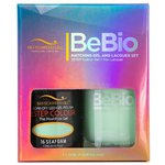 Bio Seaweed Gel - 3-STEP Color Gel Polish 0.5 oz. + Matching BeBio Nail Lacquer 0.5 oz. - #16 Seafoam (BSG 3STEP #16)