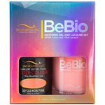 Bio Seaweed Gel - 3-STEP Color Gel Polish 0.5 oz. + Matching BeBio Nail Lacquer 0.5 oz. - #30 Salmon Pink (BSG 3STEP #30)