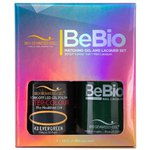Bio Seaweed Gel - 3-STEP Color Gel Polish 0.5 oz. + Matching BeBio Nail Lacquer 0.5 oz. - #43 Evergreen (BSG 3STEP #43)