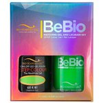 Bio Seaweed Gel - 3-STEP Color Gel Polish 0.5 oz. + Matching BeBio Nail Lacquer 0.5 oz. - #68 Kiwi (BSG 3STEP #68)
