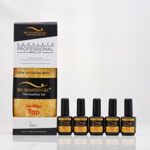 Bio Seaweed Gel - NO-WIPE TOP GEL - COMPLETE REFILL KIT 8.5 oz ()