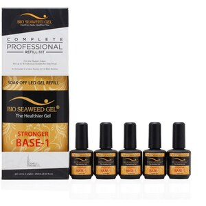 Bio Seaweed Gel - STRONGER BASE-1 GEL COMPLETE REFILL KIT 8.5 oz ()