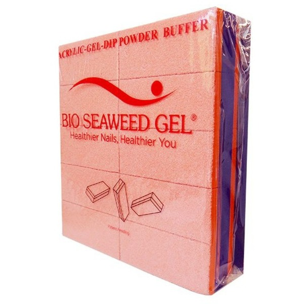"Bio Seaweed Gel - DMA Disposable Slim Buffer - Orange Purple - 80100 Grit - 3.15"" X 1.38"" X 0.79"" Pack of 20 Buffers ()"