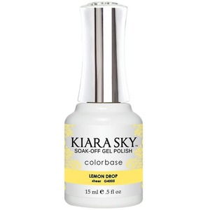 Kiara Sky Gel Polish - Jelly Collection - Lemon Drop - #4005 0.5 oz. (#4005)