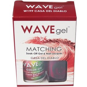 WaveGel Matching Soak Off Gel Polish & Nail Lacquer - CASA DEL DIABLO - W199 0.5 oz. Each (W199)