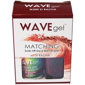 WaveGel Matching Soak Off Gel Polish & Nail Lacquer - SI RACHA - W200 0.5 oz. Each (W200)