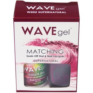 WaveGel Matching Soak Off Gel Polish & Nail Lacquer - SUPERNATURAL - W202 0.5 oz. Each (W202)