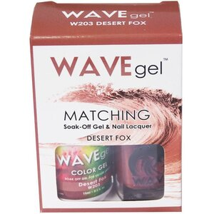 WaveGel Matching Soak Off Gel Polish & Nail Lacquer - DESERT FOX - W203 0.5 oz. Each (W203)