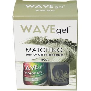 WaveGel Matching Soak Off Gel Polish & Nail Lacquer - BOA - W204 0.5 oz. Each (W204)