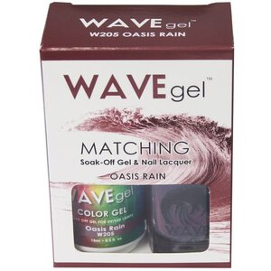 WaveGel Matching Soak Off Gel Polish & Nail Lacquer - OASIS RAIN - W205 0.5 oz. Each (W205)