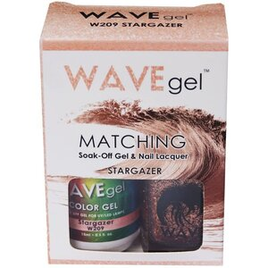 WaveGel Matching Soak Off Gel Polish & Nail Lacquer - STARGAZER - W209 0.5 oz. Each (W209)