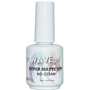 WaveGel Hyper Matte Top Coat - for Use With Soak-Off Gel Polish 0.5 oz ()