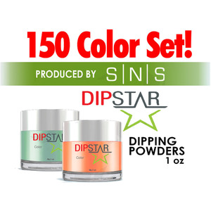 Dip Star Dipping Powders 1 oz. Each - Complete Set - 150 Colors (#DS001-#DS150) by SNS - Signature Nail Systems (#DS001-#DS150)