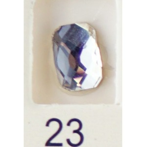Stardust Rhinestone Crystallized Nail Art - Clear #23 Bag of 20 Pieces (20816-Clear23)