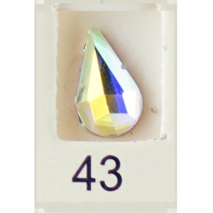 Stardust Rhinestone Crystallized Nail Art - Holo Rainbow #43 Bag of 20 Pieces (20816-Holo43)