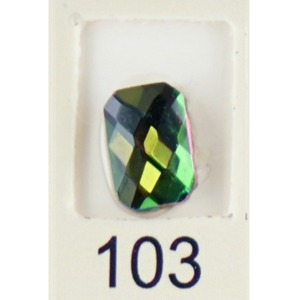 Stardust Rhinestone Crystallized Nail Art - Green Titanium #103 Bag of 20 Pieces (20816-Green103)