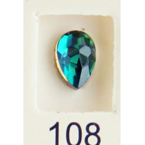 Stardust Rhinestone Crystallized Nail Art - Green Titanium #108 Bag of 20 Pieces (20816-Green108)