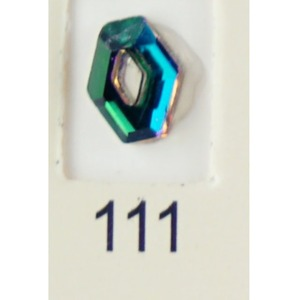 Stardust Rhinestone Crystallized Nail Art - Green Titanium #111 Bag of 20 Pieces (20816-Green111)