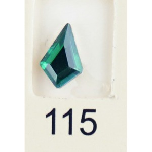 Stardust Rhinestone Crystallized Nail Art - Green Titanium #115 Bag of 20 Pieces (20816-Green115)
