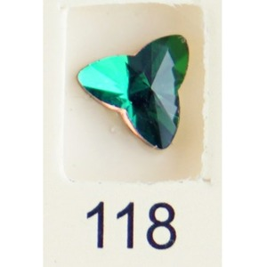 Stardust Rhinestone Crystallized Nail Art - Green Titanium #118 Bag of 20 Pieces (20816-Green118)