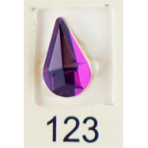 Stardust Rhinestone Crystallized Nail Art - Purple Ametrine #123 Bag of 20 Pieces (20816-Purple123)