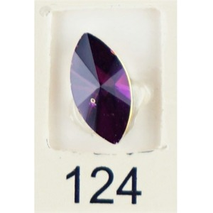 Stardust Rhinestone Crystallized Nail Art - Purple Ametrine #124 Bag of 20 Pieces (20816-Purple124)