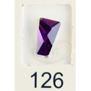 Stardust Rhinestone Crystallized Nail Art - Purple Ametrine #126 Bag of 20 Pieces (20816-Purple126)