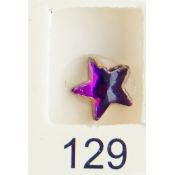 Stardust Rhinestone Crystallized Nail Art - Purple Ametrine #129 Bag of 20 Pieces (20816-Purple129)
