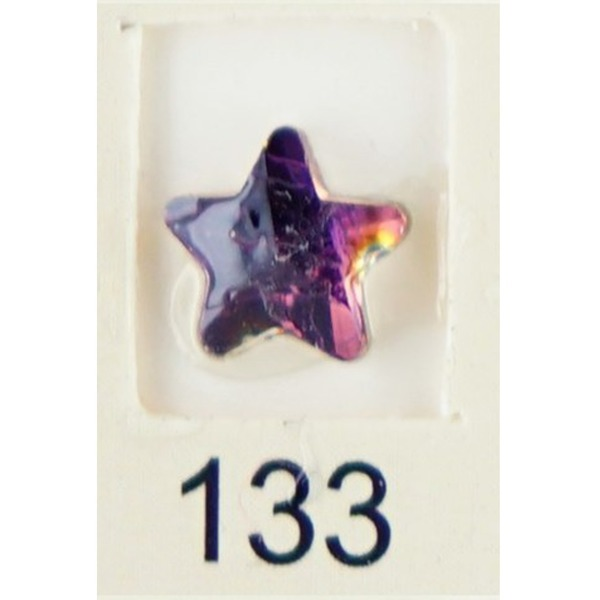 Stardust Rhinestone Crystallized Nail Art - Purple Ametrine #133 Bag of 20 Pieces (20816-Purple133)