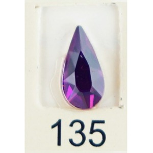 Stardust Rhinestone Crystallized Nail Art - Purple Ametrine #135 Bag of 20 Pieces (20816-Purple135)