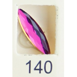 Stardust Rhinestone Crystallized Nail Art - Purple Ametrine #140 Bag of 20 Pieces (20816-Purple140)