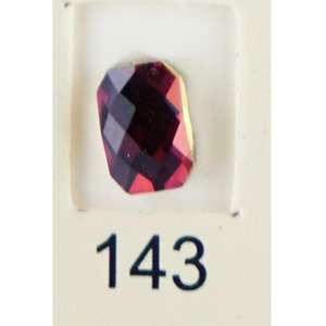 Stardust Rhinestone Crystallized Nail Art - Purple Ametrine #143 Bag of 20 Pieces (20816-Purple143)