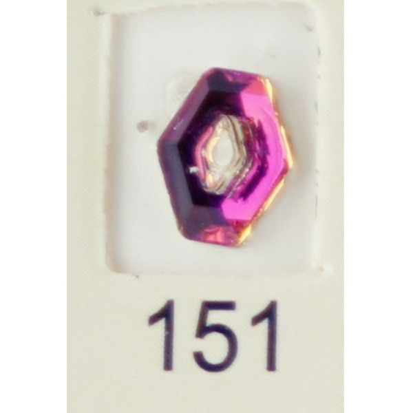 Stardust Rhinestone Crystallized Nail Art - Purple Ametrine #151 Bag of 20 Pieces (20816-Purple151)