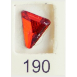 Stardust Rhinestone Crystallized Nail Art - Red Ruby #190 Bag of 20 Pieces (20816-Red190)