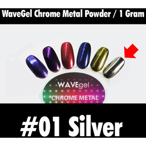 WaveGel Chrome Metal Powder - #01 Silver 1 Gram ()