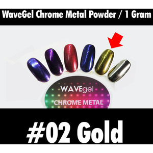 WaveGel Chrome Metal Powder - #02 Gold 1 Gram ()