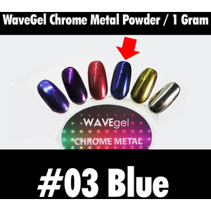 WaveGel Chrome Metal Powder - #03 Blue 1 Gram ()