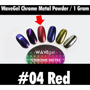 WaveGel Chrome Metal Powder - #04 Red 1 Gram ()